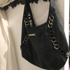 Michael Kors Black leather hobo bag satchel